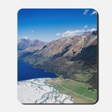 New Zealand - aerialnorchy, South Island Mousepad