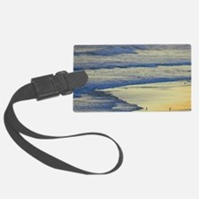Man Walking Dog at the end of th Luggage Tag