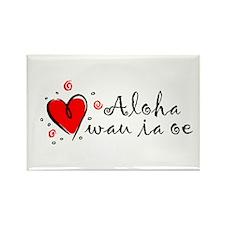 """I Love You"" [Hawaiian] Rectangle Magnet (10 pack)"
