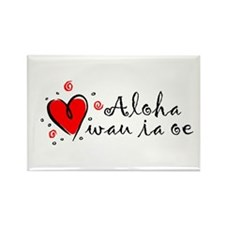 """I Love You"" [Hawaiian] Rectangle Magnet"