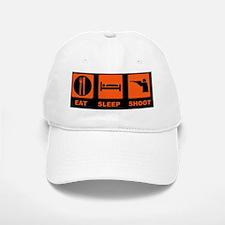 1eat sleepSHHOT GUND Baseball Baseball Cap