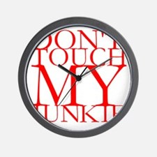 Dont Touch My Junkie.gif Wall Clock