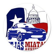 NA final logo Round Car Magnet