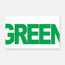 Mental-Health-Think-Green-blk Rectangle Car Magnet