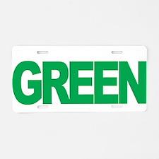 Mental-Health-Think-Green-b Aluminum License Plate