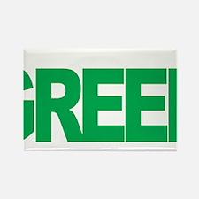 Mental-Health-Think-Green-blk Rectangle Magnet