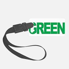 Mental-Health-Think-Green-blk Luggage Tag