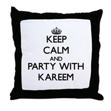 Keep Calm and Party with Kareem Throw Pillow