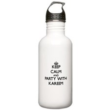 Keep Calm and Party with Kareem Water Bottle