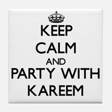 Keep Calm and Party with Kareem Tile Coaster