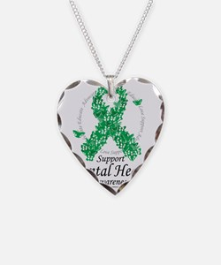 Mental-Health-Ribbon-of-Butte Necklace