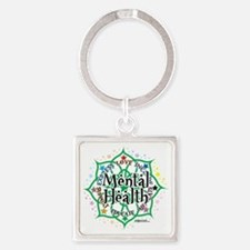 Mental-Health-Lotus Square Keychain