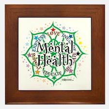 Mental-Health-Lotus Framed Tile