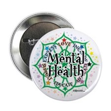 "Mental-Health-Lotus 2.25"" Button"
