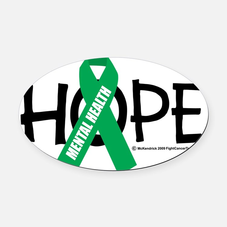 Mental-Health-Hope Oval Car Magnet