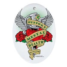 Mental-Health-Dagger Oval Ornament