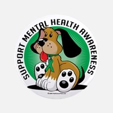 "Mental-Health-Dog 3.5"" Button"