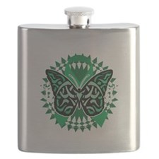 Mental-Health-Butterfly-Tribal-2-blk Flask