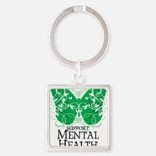 Mental-Health-Butterfly Square Keychain