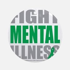 Fight-Mental-Illness Round Ornament