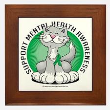 Paws-for-Mental-Health-Cat Framed Tile