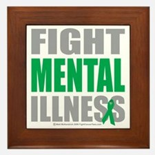 Fight-Mental-Illness Framed Tile