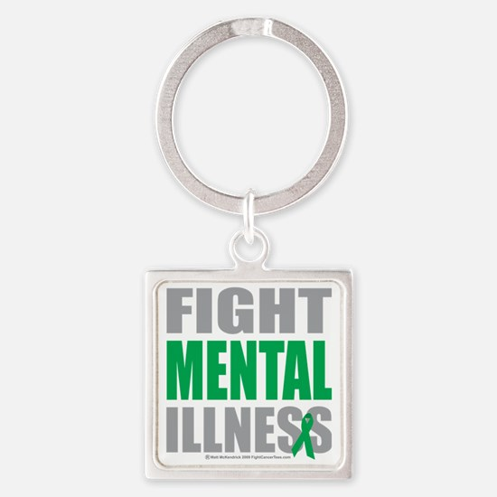Fight-Mental-Illness Square Keychain