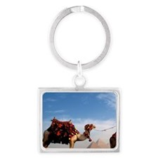 Giza. Camel and guide with Grea Landscape Keychain