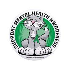 "Paws-for-Mental-Health-Cat 3.5"" Button"