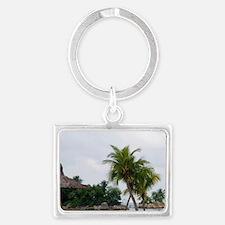 Sentosa Island. Many corporatio Landscape Keychain