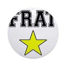 Frat Star Round Ornament