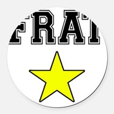 Frat Star Round Car Magnet