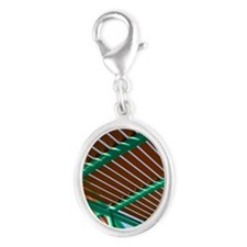 Townsville. Fishing Pier on Cle Silver Oval Charm