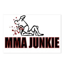 MMA JUNKIE- WHITE Postcards (Package of 8)