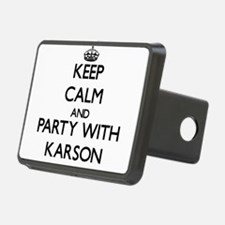 Keep Calm and Party with Karson Hitch Cover