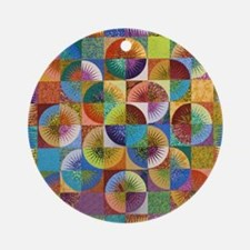 abcd Round Ornament