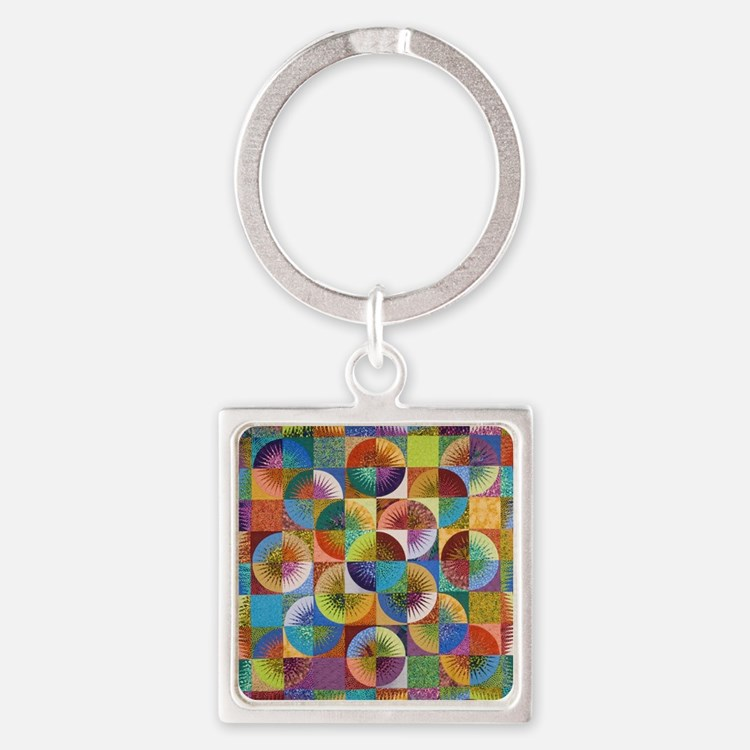 abcd Square Keychain