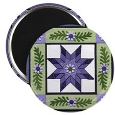 PurpleGreenLoneStar Magnet