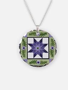 PurpleGreenLoneStar Necklace