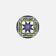 PurpleGreenLoneStar Mini Button