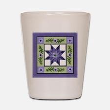 PurpleGreenLoneStar Shot Glass