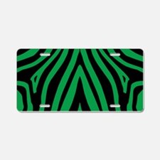 Green Zebra Aluminum License Plate