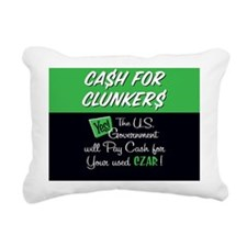 Cash for Clunkers Round Rectangular Canvas Pillow
