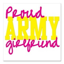 """proudarmyGF Square Car Magnet 3"""" x 3"""""""