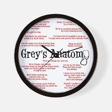 greyquotes Wall Clock