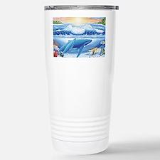 whale and turtle long  Travel Mug