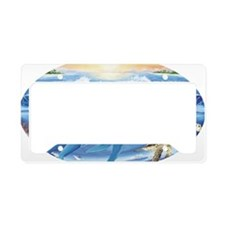 whale and turtle oval  License Plate Holder