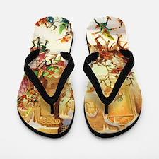 SANTA CLAUS 30_ELVES 10x14 Flip Flops