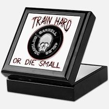 Train hard or die small png Keepsake Box