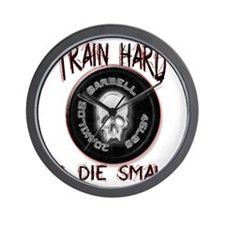 Train hard or die small png Wall Clock